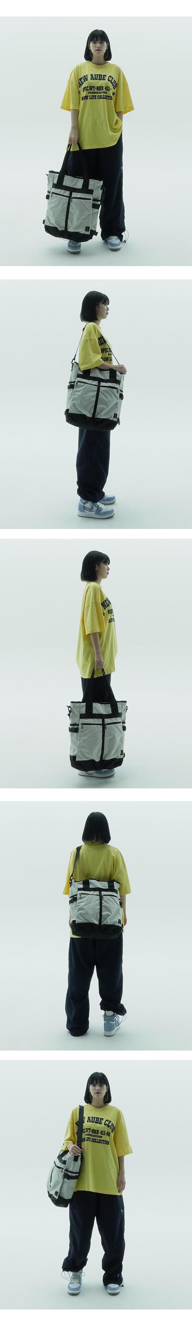 플레이언(PLAYIAN) Two pocket tote&cross bag_투포켓 토트&크로스백(PC03MWHA)